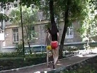 Urinated street gals