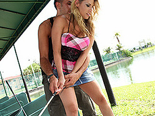 Golf is a tender sport and Charisma appears to be to have the edge over learning it the hard way as this babe proves this babe can learn it fast. This is a day on a driving range and likewise a tell all interview of her life story, this babe ends it all by delivering a cum squeezer as this babe has her most good performance ever - described in her own words as the superlatively good sex of her life. Have A Fun.