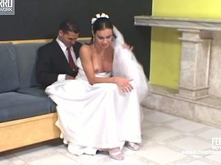 Calena mindblowing sheboy bride