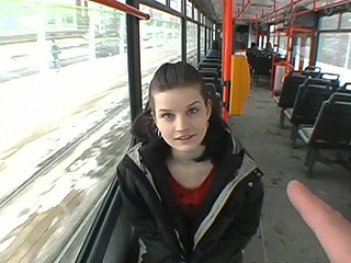 Czec hotty on a subway taken to a basement and fucked