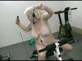 granny does her exercises