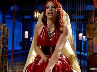 devilish redhead mistress shows her most good