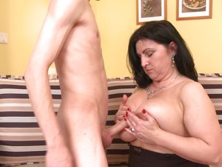 young lad fucking busty mature lady