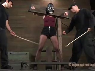 slut cries during the time that being punished