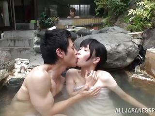 relaxing washroom with his asian girl