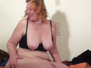 busty mature putting a dildo in her bawdy cleft
