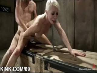 Huge tits, submissive housewife, dominated, tied