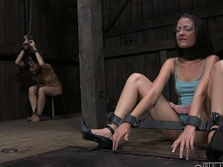 Sweet sweetheart is made to devour anal output during torment