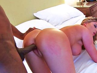 Brianna Brooks having interracial sex with some hung ebony dude