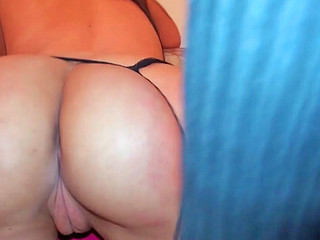 Sandy Ambrosia sucking vertical penis and getting drilled from behind