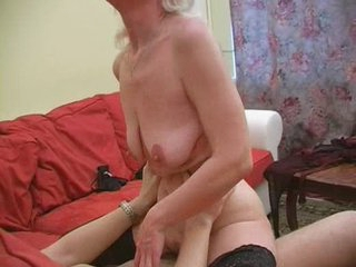 Granny Inga with saggy whoppers gets fucked.