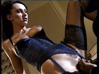 dark brown in lingerie take a black dong in ass anal troia takes hard dong in the ass all the way tit