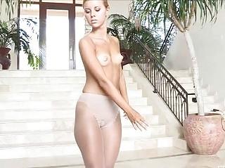 Angel demonstrates sexy body