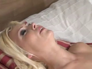 Blonde drilled by diminutive cock shemale