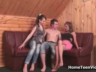 Hot Ffm Legal age teenager Hardcore Threesome