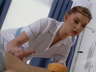 British slut Sarah gets fucked dressed as a nurse