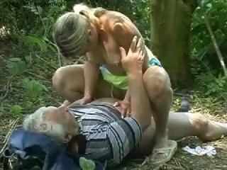 Young teen with grandpa