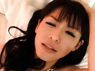 Fresh Youthful Asian Cutie Happily Sucks On Weenie
