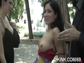 Busty charming girl purchased as sex serf
