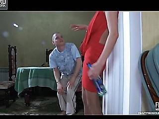 Madeleine&Steve live hose action