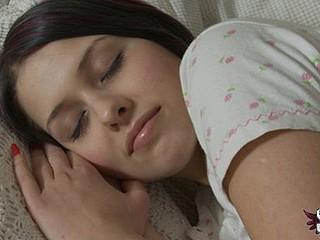 Sweet legal age teenager awakens to masturbate