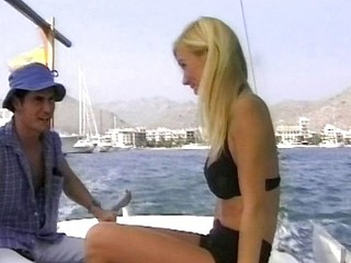Naughty sailing girl gets nailed by the captain of the boat