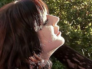 Three BDSM bitches Ruby Rubber, Samantha Bentley and Tegan Jane having rude lesbian slave fuck outdoor!