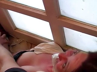 She comes over for a drink and gets bound up and abused and drilled hard