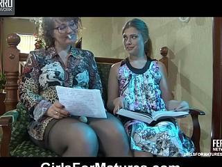 Flo&Alana older in lesbian action