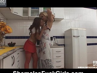 Reana&Fernanda ladyboy and pussylady in act