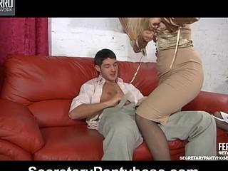 Flossie&David uniform hose sex action