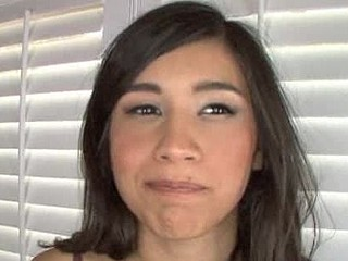 Cute Dark Brown Legal Age Teenager Beauty Swallows Cum