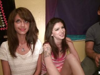 three gals playing a oral pleasure game