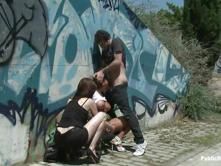 brunette chick yoha disgraced in public