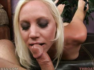 horny kacey villainess plays with a huge cock