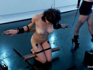 bound raven rockette is being punished by blonde milf