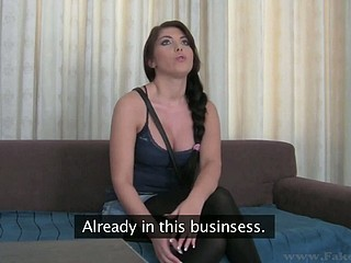 Large tits Bijou is smitten by the hardness of stud's male shlong
