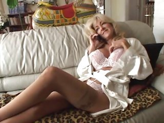Blond MILF Lexi Carrington is stuffed in her nylons