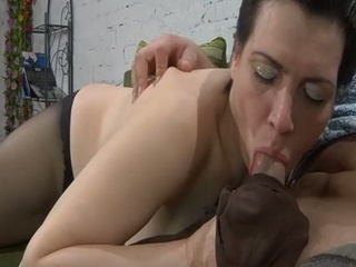 She catches him jerking off and bangs him