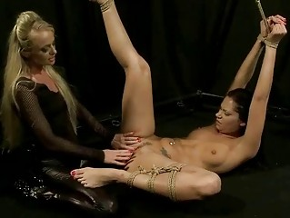 Blonde punishing brunette hair