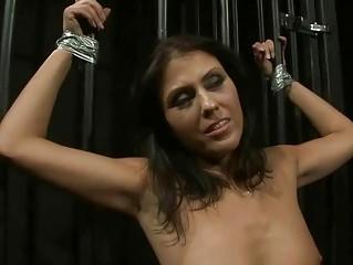 Goddess playing with hot slavegirl
