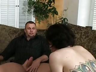 Allie haze forces cock on her husband !