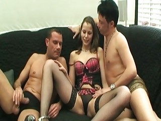 Hot Horny Hottie Fucks Two Big Coc...
