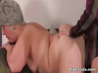 Breasty chubby mature slut acquires wet meaty