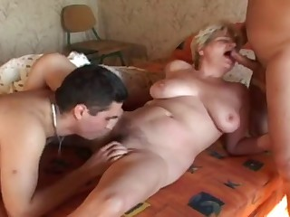 Waking and fuckin a blonde French mature