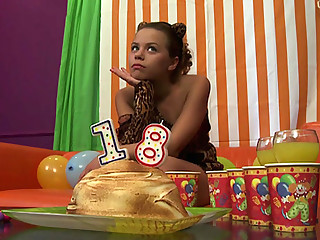 Young shaggy fucked onto her birthday