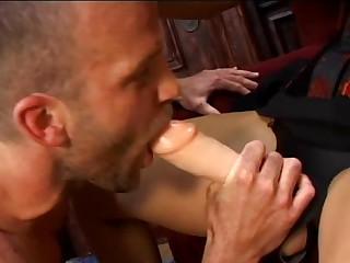 Blonde harlot shafts bi-sexual fellows