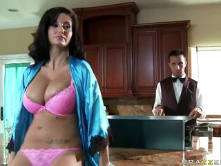 MILF Ava Addams Titty Bonks Her Butler With Her Large Natural Tits