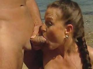 Am Strand mit Valerie