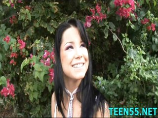 Tractable Asian teen screwed